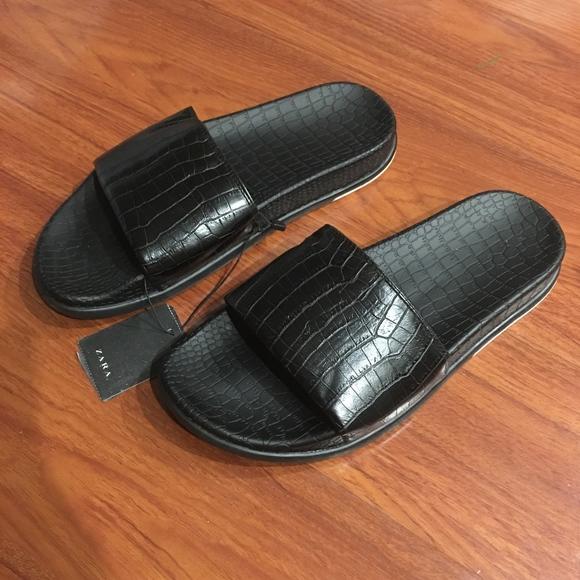 Zara Shoes | Zara Men Black Snake Like